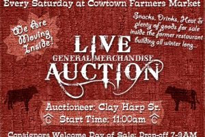 Come Participate in Our Live Auction Every Saturday