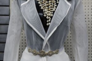 Sheer White Dress Statement Necklace