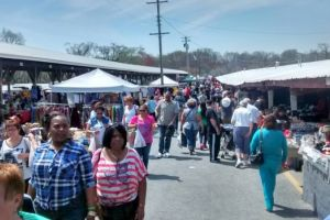 Shoppers At Cowtown Flea Market South Jersey